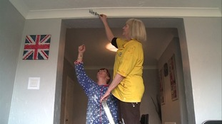 Jean spends time helping to decorate her children's homes these days.