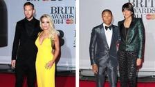 Calvin Harris and Rita ora, Pharrell Williams and Helen Lasichanh.