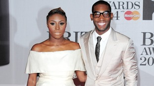 Laura Mvula and Tinie Tempah on their way to the O2 Area for tonight's event.