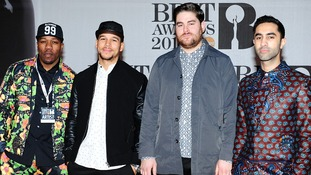 Rudimental on the Brit Awards red carpet.