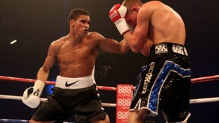Anthony Ogogo in action against Dan Blackwell in December.