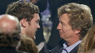 Phillips is congratulated by producer Nigel Lythgoe