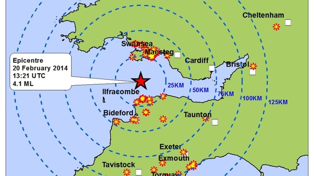 World Earthquake Map News. British Geological Survey releases earthquake map  West Country