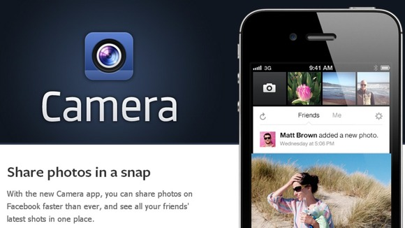 Facebook has unveiled a new camera app for the iPhone
