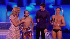 Splash! 2014 champion Perri Kiely picks up his award.
