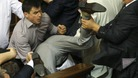 One deputy ends up being sent head-over-heels in the Ukrainian parliament in Kiev