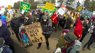 Legal bid to evict fracking protesters put on hold