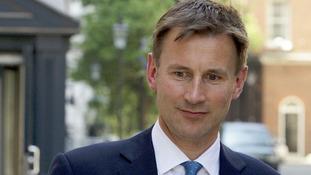 Jeremy Hunt leaving Downing Street