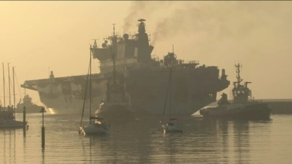 HMS Ocean arrived in Sunderland yesterday