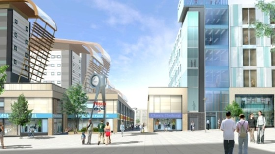 An artist&#x27;s impression of the Trinity Square development in Gateshead town centre