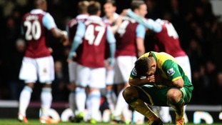 Norwich City were punished for missed chances against West Ham United.