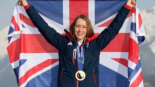 Lizzy Yarnold will carry the flag for Great Britain at Sunday's closing ceremony.