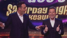 Ant McPartlin takes offence to Declan Donnelly's thumbs up at the start of the show.