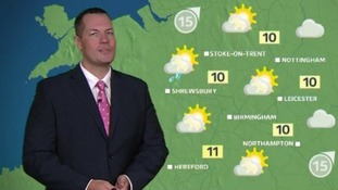 Latest forecast from ITV News Central