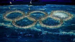 The Olympic rings are finally complete.