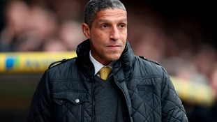 Norwich City's Manager Chris Hughton on the touchline during the Barclays Premier League match against Tottenham