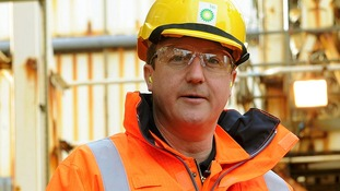 Prime Minister David Cameron during a visit to the BP Etap platform today.