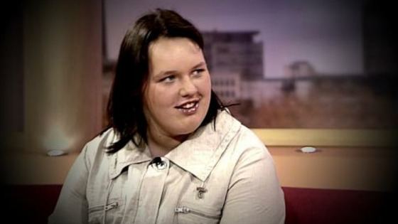 Georgia Davis on GMTV just after returning from the US