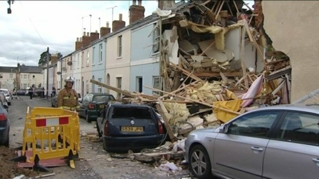 Home destroyed by gas explosion