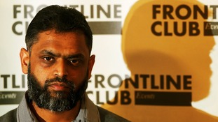 Former Guantanamo detainee Moazzam Begge in the Frontline Club in London 2012.