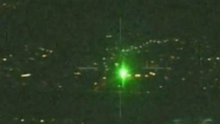 Police warn of dangers of shining laser pens at aircraft
