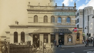 Gloucester Road Station 1868 and 2014