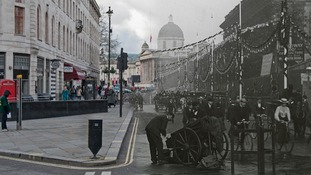 Duncannon Street 1902 and 2014