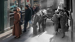 Bow Lane c.1930 and 2014