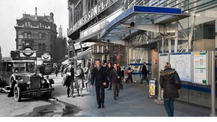 Blackfriars station c.1930 and 2014