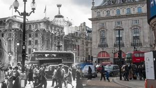 Piccadilly Circus 1953 and 2014