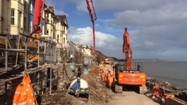 Fire crews create artificial landslide at Dawlish