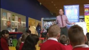 Birmingham schoolchildren celebrate LGBT History Month