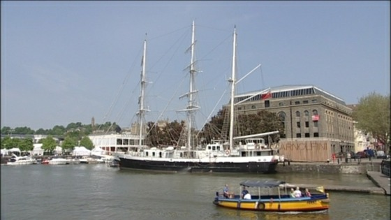 Lord Nelson Tall Ship in Bristol Dockks