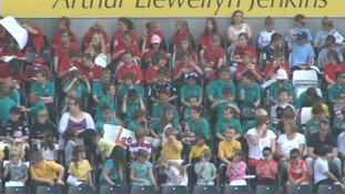 Young fans at the Liberty Stadium