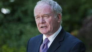 File photo of Northern Ireland's Deputy First Minister Martin McGuinness.