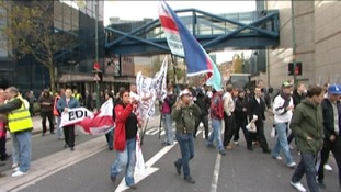 A previous EDL march in Birmingham