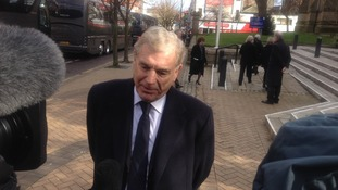 Trevor Brooking speaks to the press in Preston