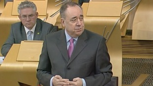 Scotland First Minister Alex Salmond during First Minister's Questions.