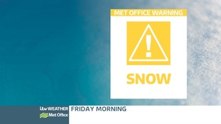Met Office warning issued for snow on Friday morning