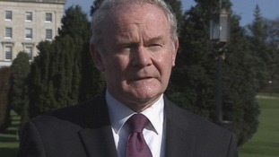 Northern Ireland's Deputy First Minister Martin McGuinness at Stormont today.