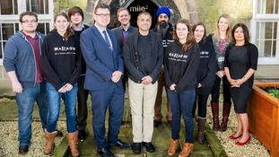 Inspector Rik Basra (centre) with DMU Square Mile team and student volunteers