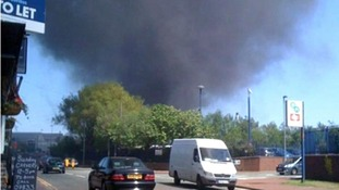 Factory fire in West Bromwich