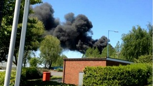 Fire at recycling firm