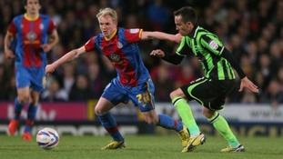 Crystal Palace's Jonny Williams in action against Brighton and Hove Albion in last season's Championship play-offs.