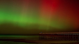 Northern Lights shine over the North East