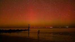Rare glimpse of the Northern Lights in East Anglia