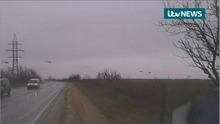 Military helicopters seen in Ukraine.