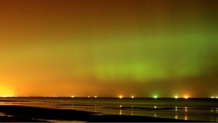The skies above Saltburn lit up last night.