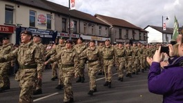 Homecoming parade for 203 (Welsh) Field Hospital