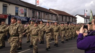 Big turnout for 203 (Welsh) Field Hospital homecoming parade in Risca
